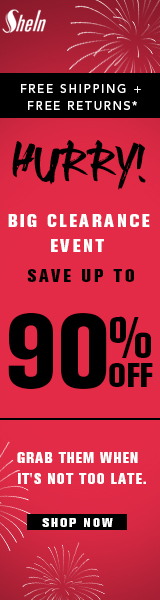 Huge Clearance Sale at SheIn - Shop now to save up to 90%, get free shipping and free returns - Ends 1/31