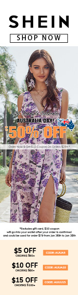 Get Ready to Celebrate Australia Day at au.SHEIN.com with 11% off orders AU$69+