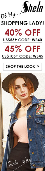Enjoy 45% off orders $105+ with Coupon Code WS45 at SheIn.com! Ends 9/19