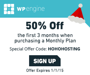 WP Engine WordPress Hosting Special offer code HOHOHOSTING