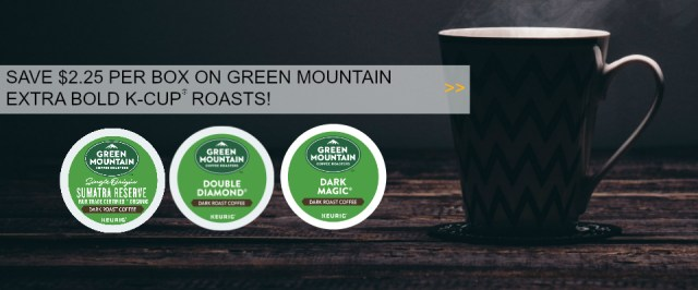 Save $2.25 on EXTRA BOLD K-Cup® pods!
