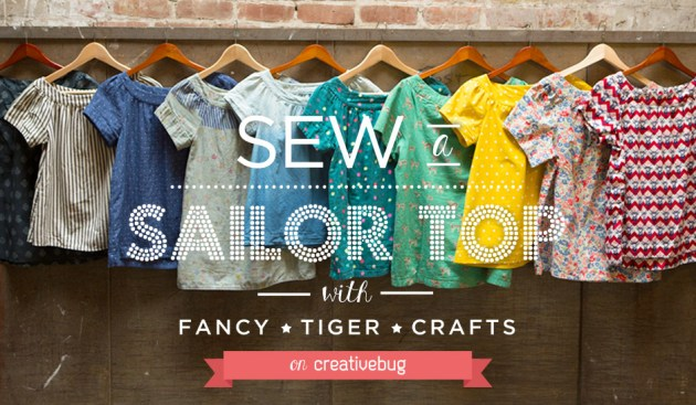 Sew a Sailor Top with Fancy Tiger Crafts on Creativebug