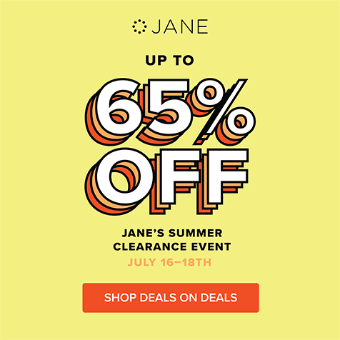 Shop Jane's Summer Clearance Event