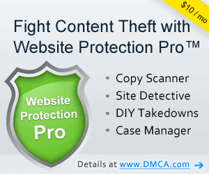 Protect your content with a DMCA.com's content protection program