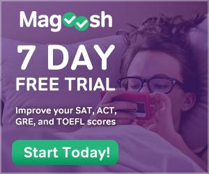 7 Day Free Trial at Magoosh.com.