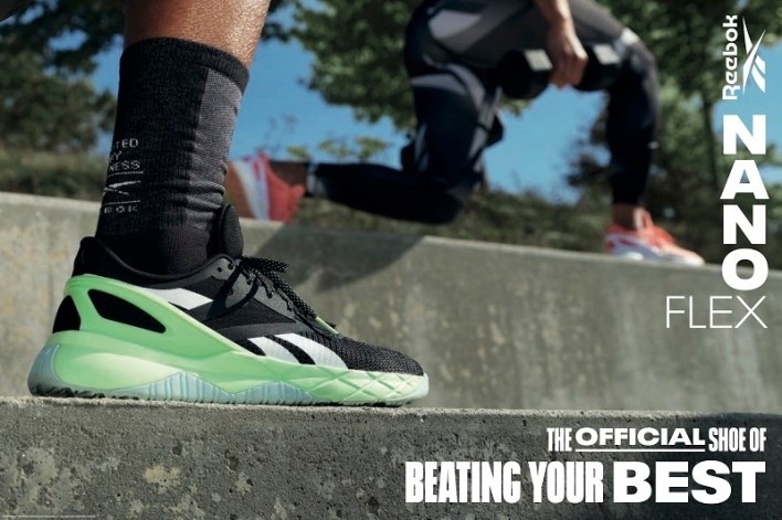 REEBOK NANOFLEX. THE OFFICIAL SHOE OF BEATING YOUR