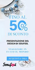 Viaggia in tutto il mondo con una Pre-vendita di design! Risparmia fino al 50% su Soufeel.it Fine 09/15