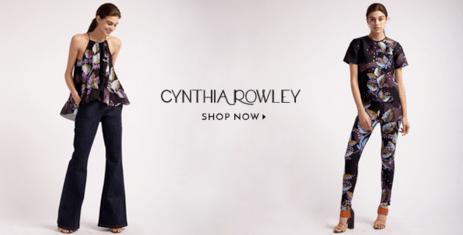 Cynthia Rowley Black Leaf Print Tops and Leggings