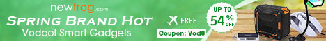 54% OFF Spring Brand Hot-Vodool Smart Gadgets, Free Shipping(Extra 8% Coupon: Vod8)