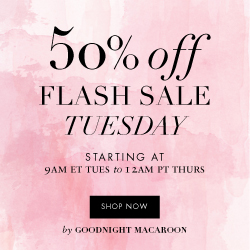 Flash Sale Tuesday Take 50% Off