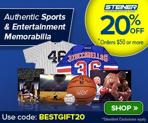 20% Off at SteinerSports.com: code SUMMER-OT-50