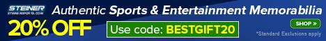 20% Off at SteinerSports.com: code BESTGIFT20