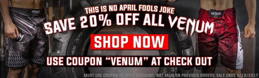 20% Off Venum Fight Gear