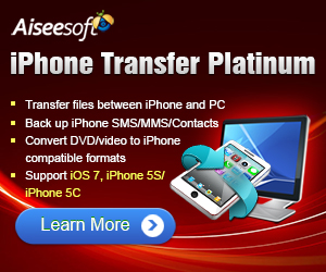 Transfer iPhone files to and from PC, convert video/DVD to iPhone, backup SMS/MMS and contacts, make ringtone