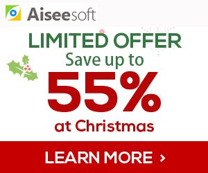Limited Offer:Up to 55% Off Aieesoft Christmas Season!