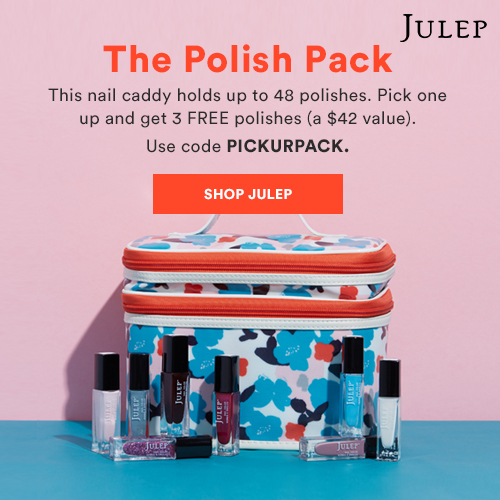 Pick a nail caddy and get 3 FREE polishes. Use code PICKURPACK