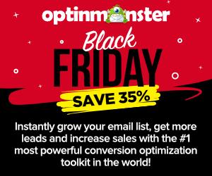 OptinMonster Black Friday Discount Sale 2019 - Save 35% 😍 1