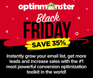 OptinMonster Black Friday Discount 2020 - Save 35% 😍 1