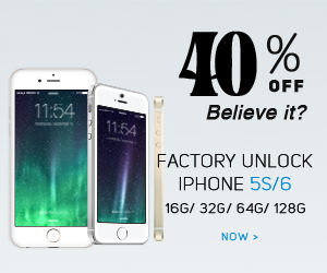 Apple factory unlock iPhone 5s/6, up to 40% off. 16G/32G/64G/128G