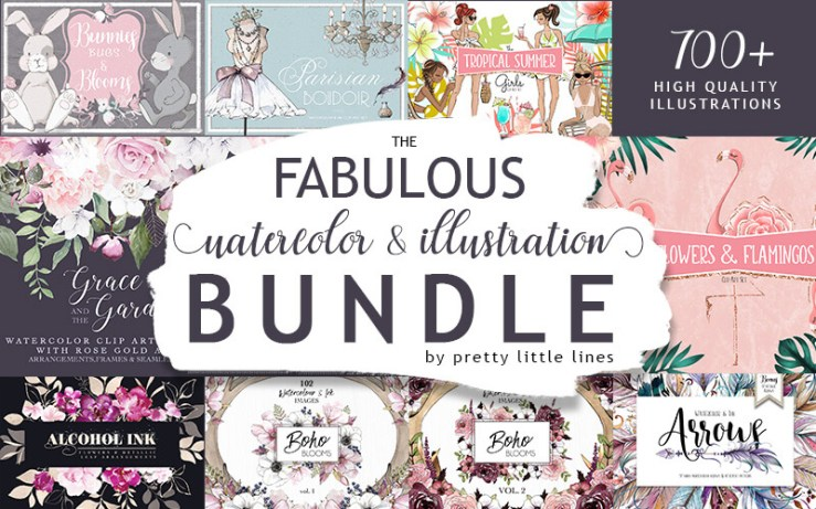Fabulous watercolor bundle