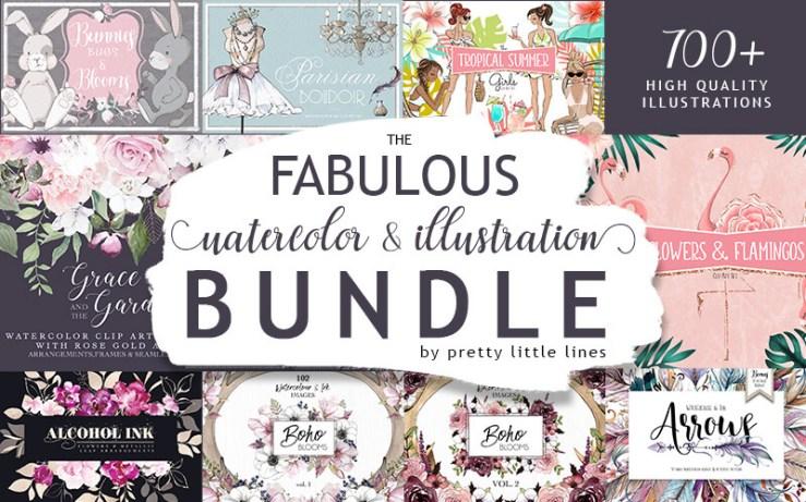 Fabulous watercolor bundle