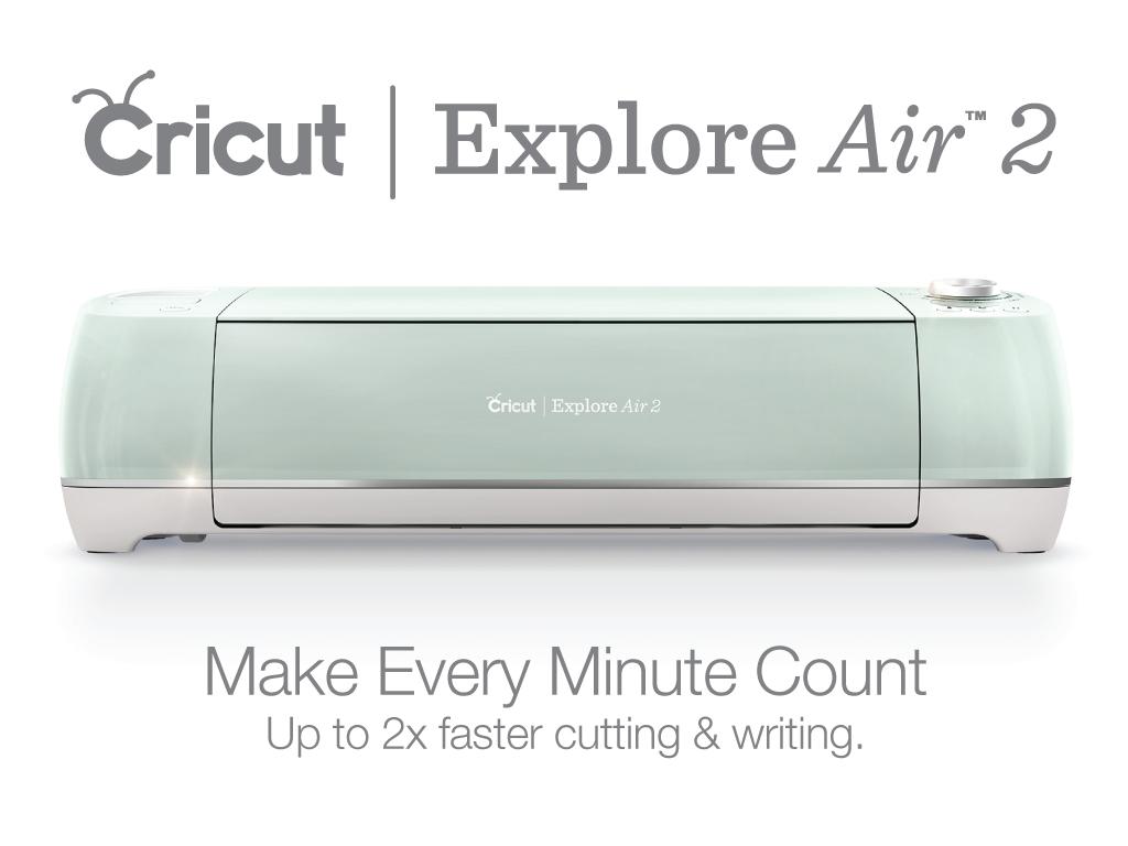 Mint Cricut Explore Air 2 against white background