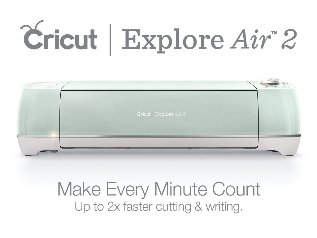 Mint Cricut Explore Air 2 against white background