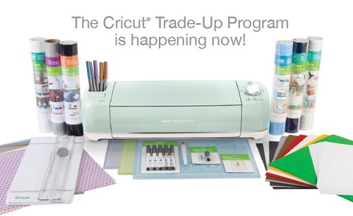 Cricut Explore Air 2 with supplies horizontal pic