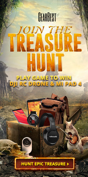"GearBest Treasure Hunt Sale: 10% OFF Coupon ""GBSep10%off"" on Order Over $10"