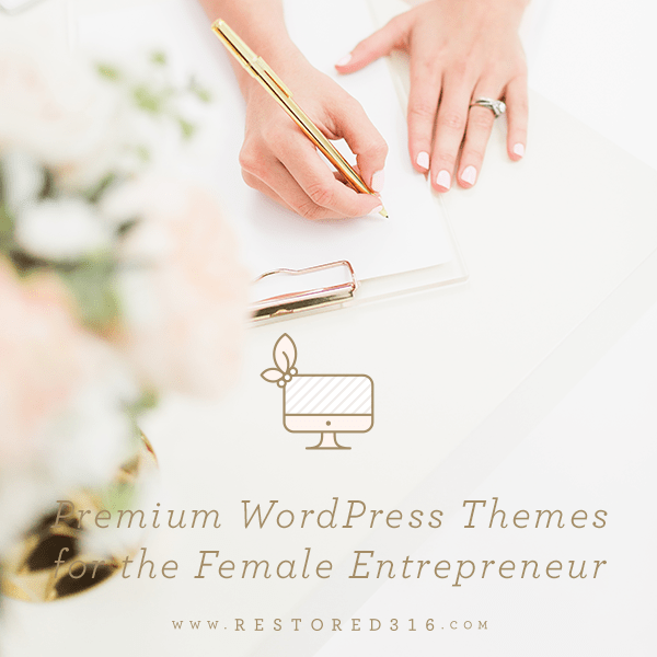 Blogging tools for beginners: WordPress themes for the female entrepreneur with hands and clipboard