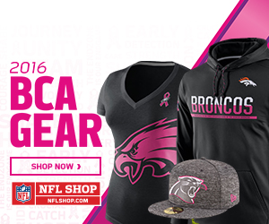 Think Pink and Fight Cancer in 2016 BCA Fan Gear from NFLShop.com