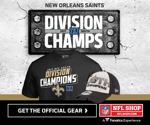 Shop for New Orleans Saints Division Champs Gear at NFLShop.com