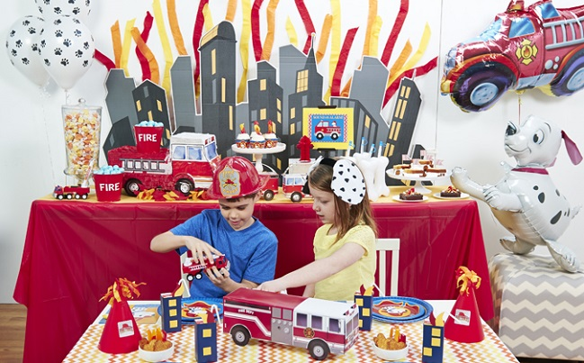 little fireman birthday party supplies