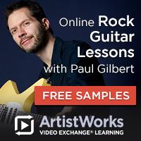 Online rock guitar lessons paul gilbert