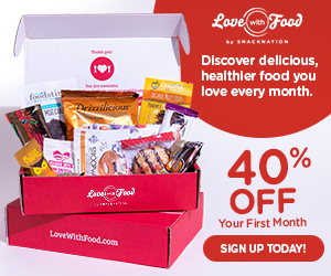 NEW Special Offer Banner (Deluxe Box) Get 40% Off Your First Box of Delicious All-Natural Snacks by Snacknation