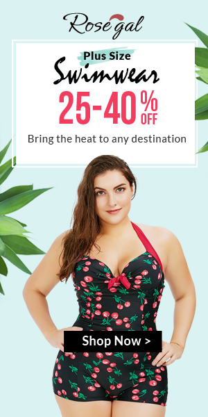 Rosegal Plus Size Swimwear: 25% - 40% OFF + FREE SHIPPING