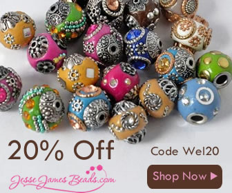 Take 20% Off Your Order at Jesse James Beads Today!