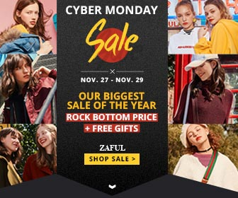 Rock bottom price and Free gifts in Zaful Cyber Monday!