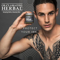 Ora's Amazing Herbal, All natural tattoo aftercare to protect, soothe, and heal your ink,