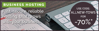 TD Web Services Business Hosting 70% OFF Discount - Use CODE ALLNEW-TDWS