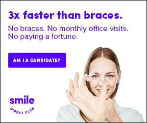 Ad for SmileDirectClub as part of J.Prince article