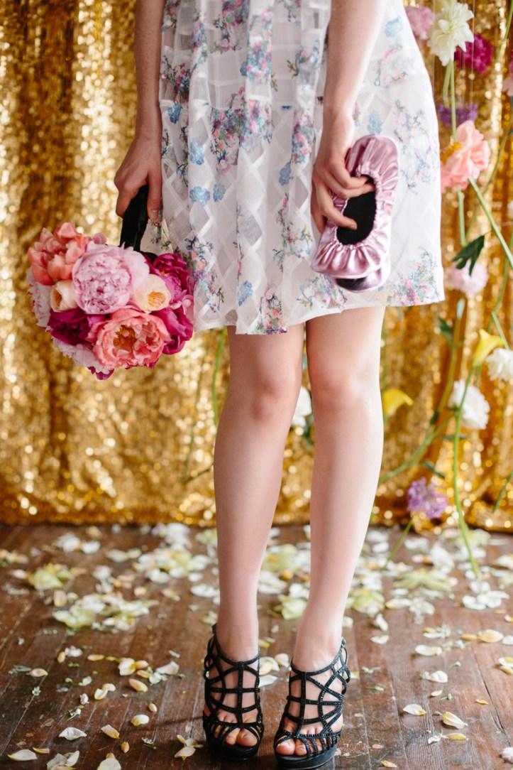 Rescue Flats   rescueflats.com   Luxury Dancing Slipper Wedding Favors   Blush Pink Foldable Flats