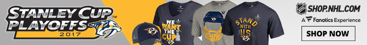 Support the Predators in their quest for the Stanley Cup in Official Playoff Gear from Shop.NHL.com