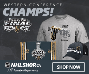 The Knights are Western Conference Champs  - get their Champs Gear at NHLShop.ca