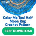 COLOR ME TEAL HALF-MOON RUG CROCHET PATTERN