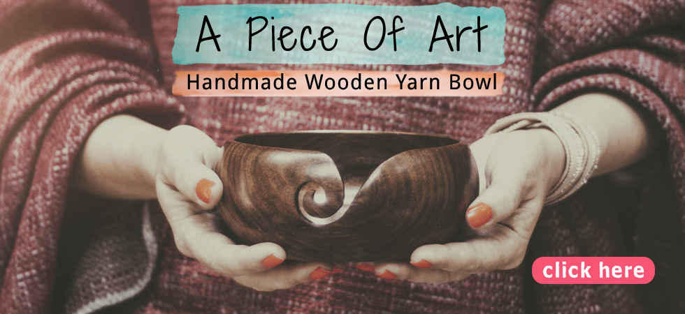 A Piece of Art, Handmade Wooden Yarn Bowl