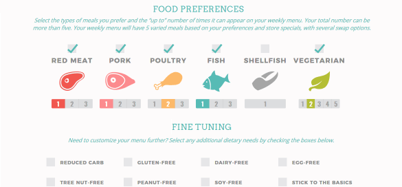 Food Preferences Screen