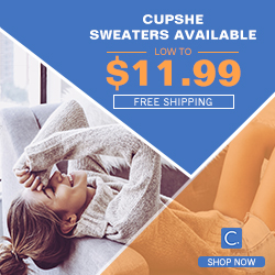 Cupshe Sweaters Available! Low to $11.99! Free Shipping! Shop Now!