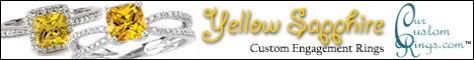 Chatham Created Yellow Sapphire Engagement Rings