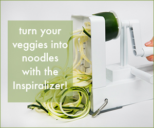 Turn veggies into noodles with the Inspiralizer
